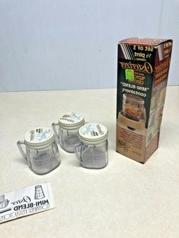 3 Vtg Oster Osterizer Mini Blend Containers NOS Baby Food 1/