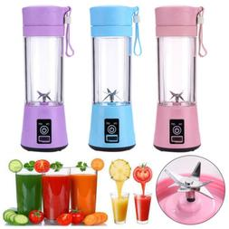 380ml Portable USB Juicer Cup Handheld Rechargeable Fruit Ma