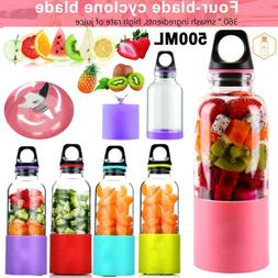 500ML NEW Portable Blender USB Rechargeable Fruit Juicer Cup
