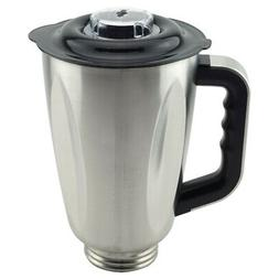 6-Cup Stainless Steel Jar with Handle and Lid for Oster Oste