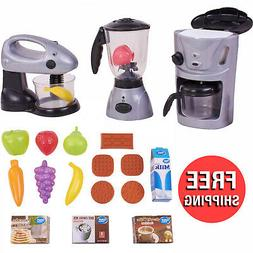 Kid Connection 18-Piece Kitchen Play Set with Mixer Coffee M