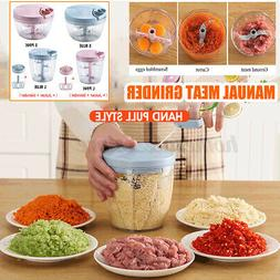 Manual Meat Grinder Hand-power Food String Chopper Mixer Ble