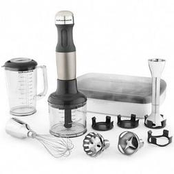 New KitchenAid KHB2561ob immersion Hand Blender 5-Speed Blac