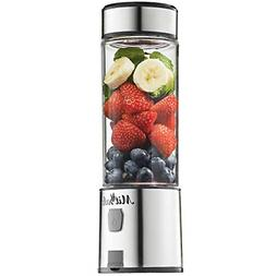 Portable Blender Shakes & Smoothies Stainless Steel Blades R